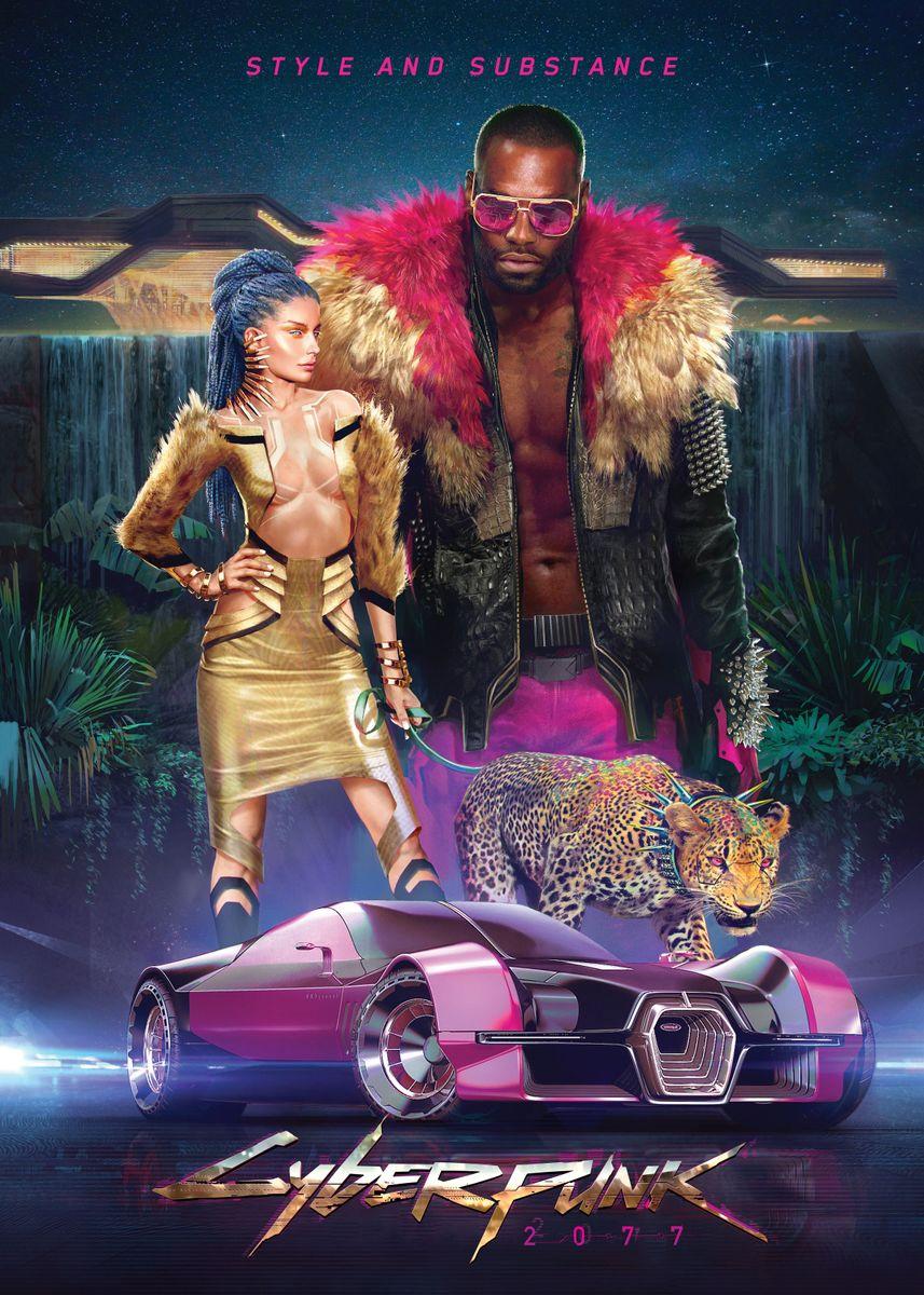 Neokitsch Cyberpunk Poster