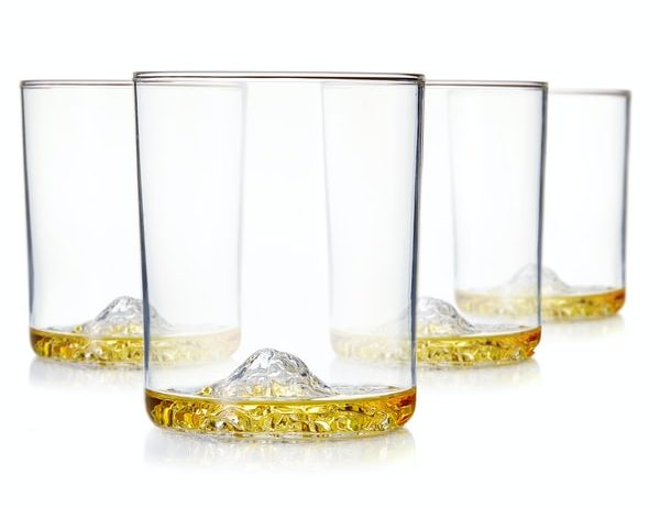 American Mountains in Whiskey Glasses