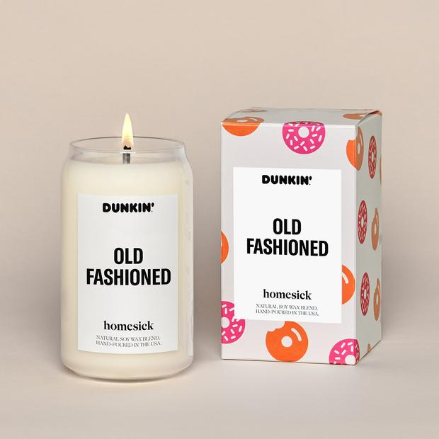 Dunkin' Old Fashioned Donut Candle from homesick