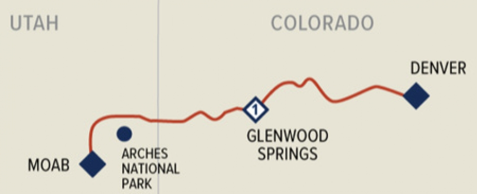Rockies to Red Rocks route