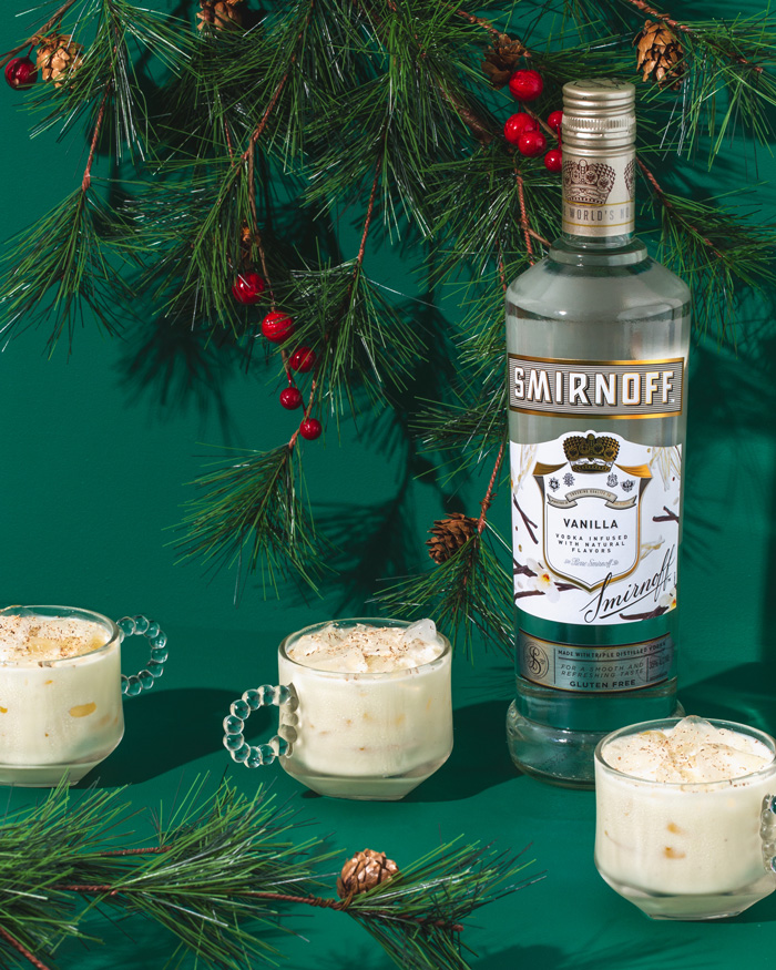 Coquito Smirnoff Vanilla cocktail recipe
