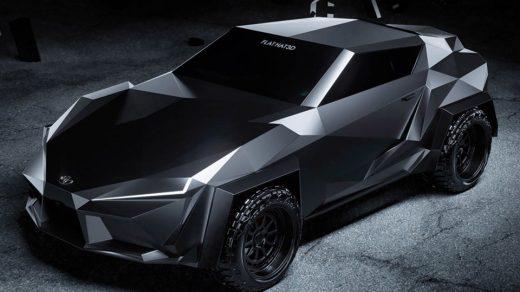 Flat Hat 3D Cyber Supra concept car