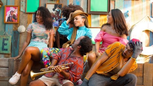 "Leslie Grace in ""Conga"" music video"