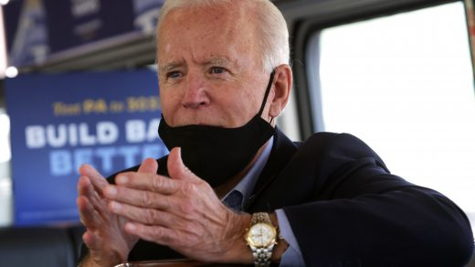 Biden wearing Seiko chronograph