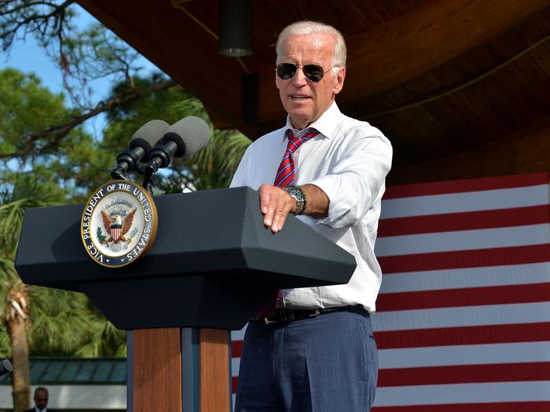 Joe Biden wearing Omega Seamaster Diver watch