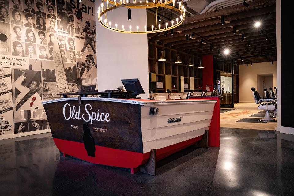 Old Spice Barber Shop front desk