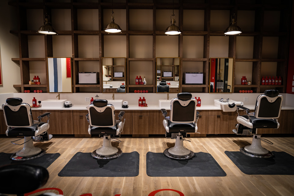 Old Spice Barber Shop Stations