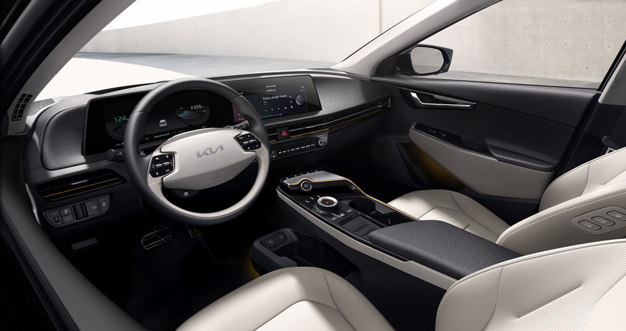EV6 interior