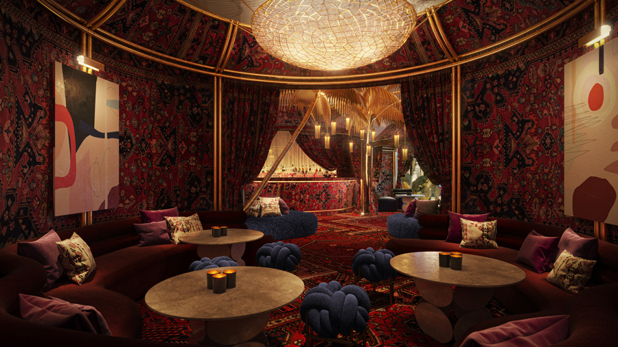 The Shag Room at Virgin Hotels Las Vegas