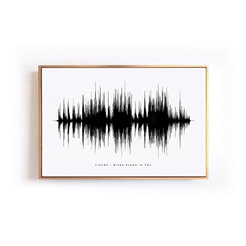 Handmade Mother's Day Gift - Custom Sound Wave Art Print