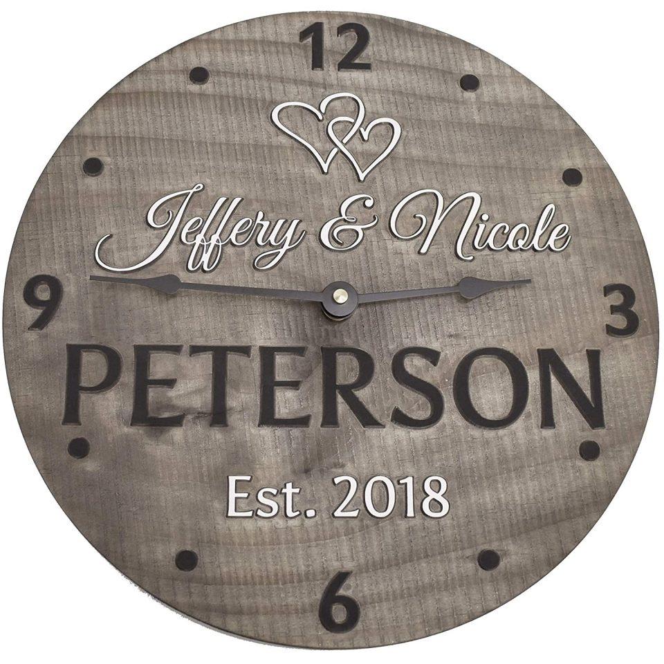 Handmade 11-inch Wooden Wall Clock