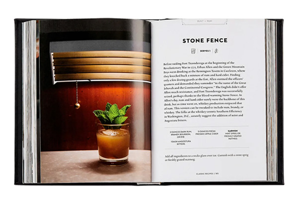 Leather-bound cocktail books