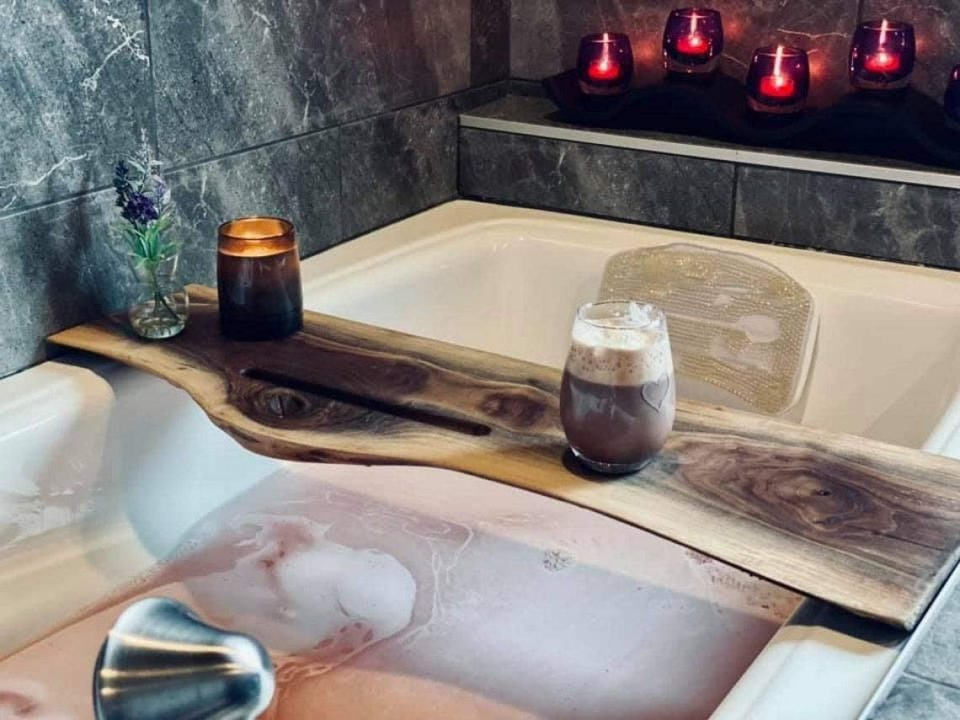 Handmade Mother's Day Gift - Walnut Bath Cady