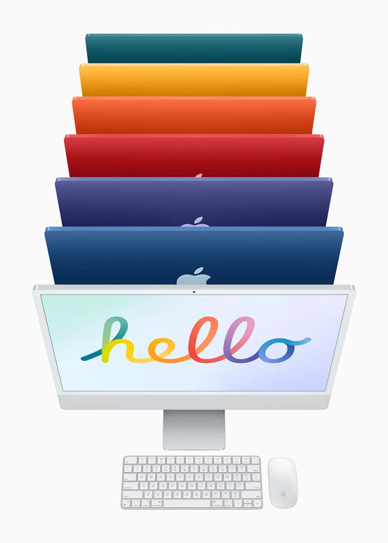 The Apple M1 iMac Comes in 7 Different Vibrant Colors ...