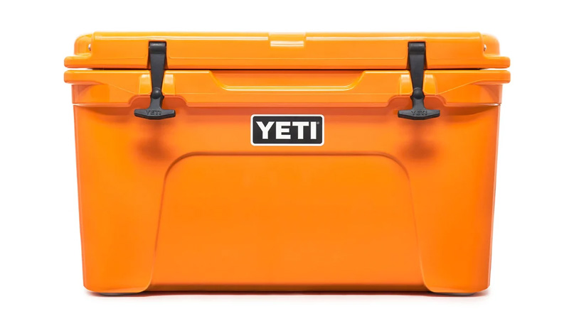 Bright colorful yeti cooler