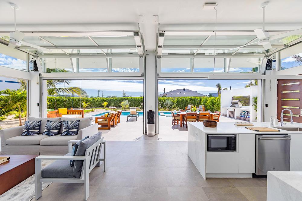 Living area at White Villas