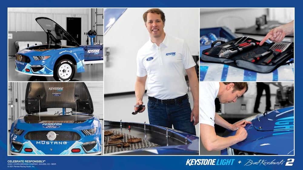 Brad Keselowski and Keystone Light Grill Race Car Giveaway
