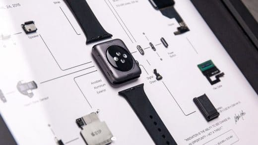 Deconstructed Apple Watch First Generation by Grid Studio