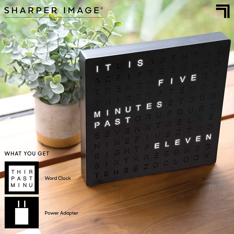 Light up desk clock from Sharper Image