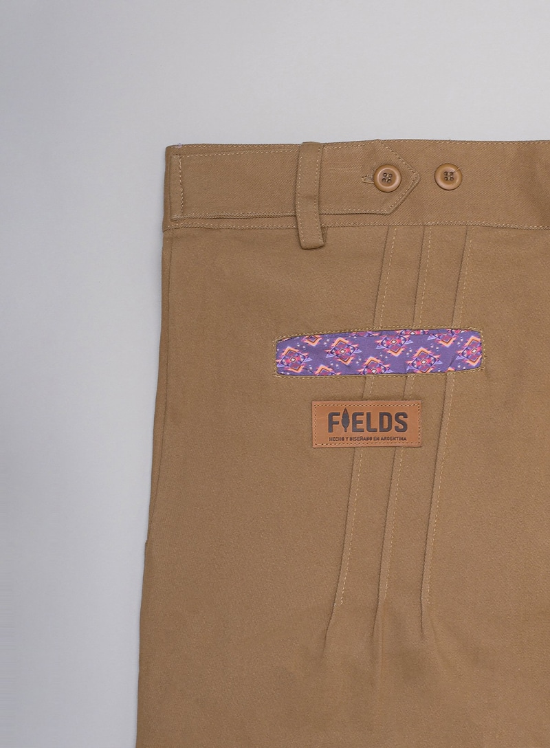Pattern close-up on pleated pant