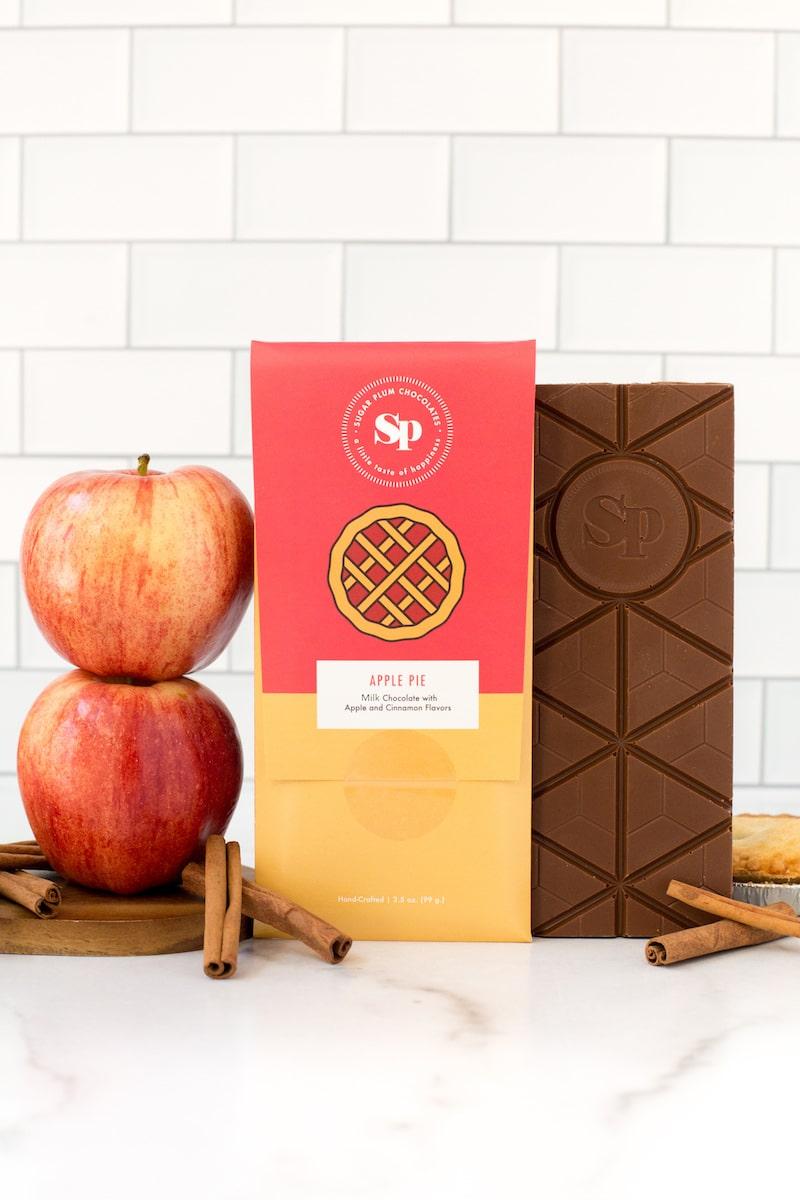 Sugar Plum Apple Pie Milk Chocolate Bar
