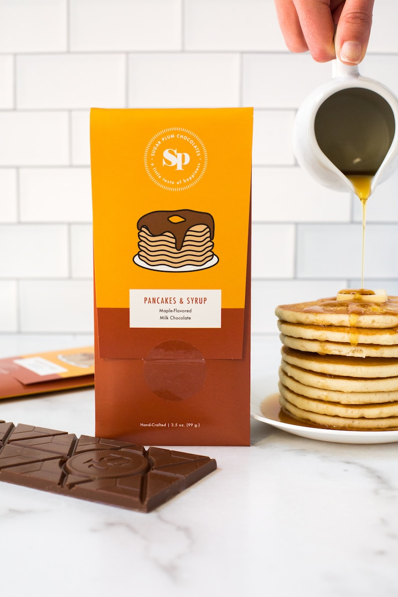 Sugar Plum Pancakes and Syrup Chocolate Bar