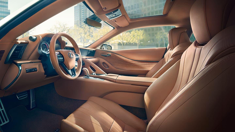 2021 Lexus LC500 Toasted Caramel interior