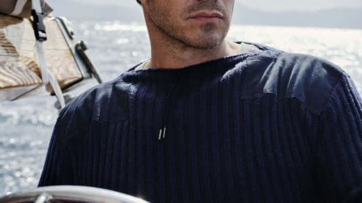 007 Ribbed Army Sweater by N.Peal