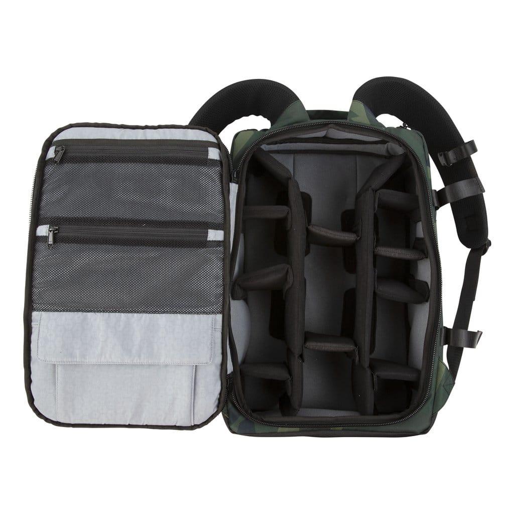 compartments in hex back loader dslr backpack